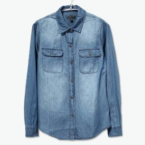 Vans   Denin Chambray Button Up Top Small